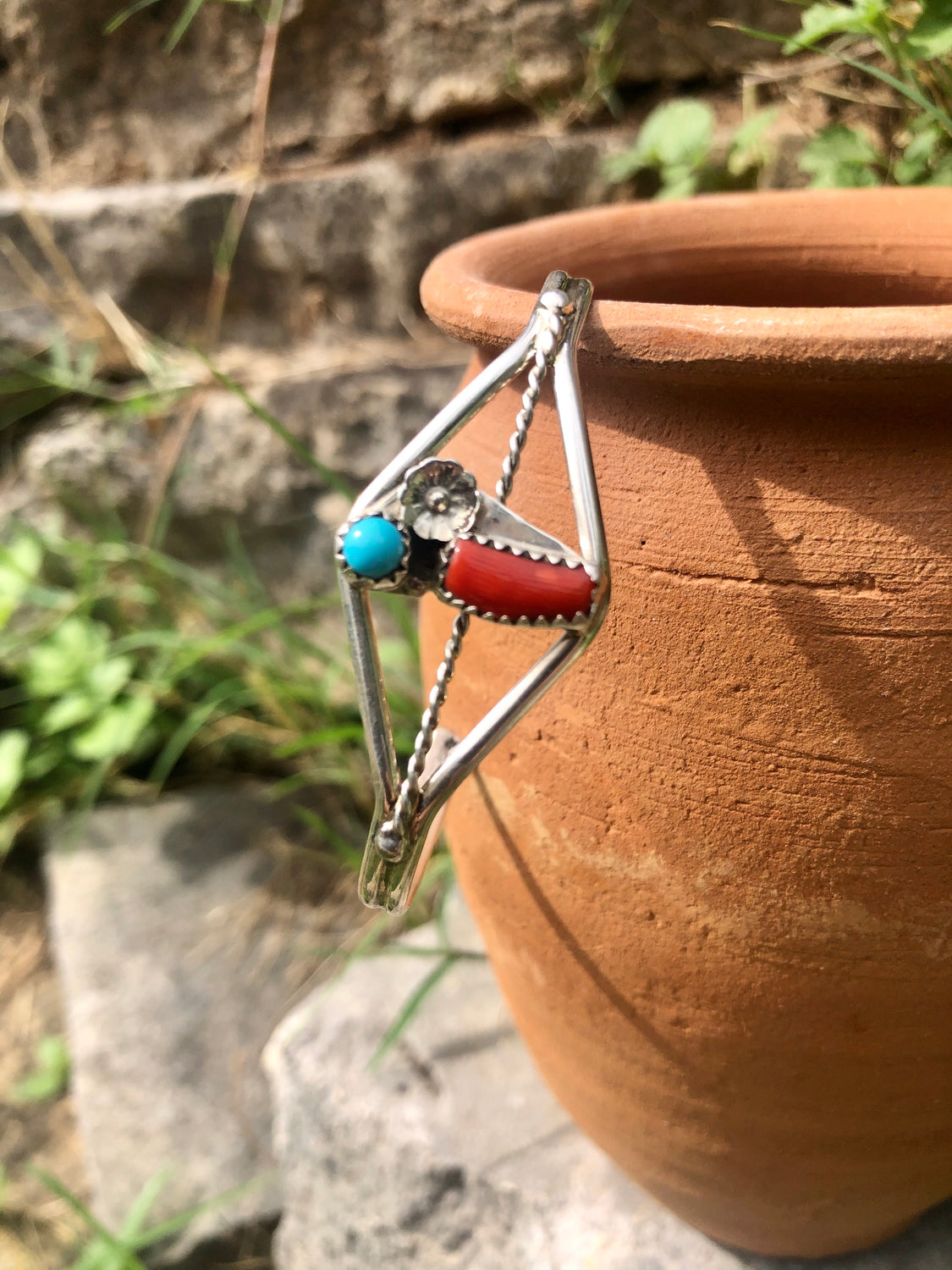 Coral & Turquoise Cuff