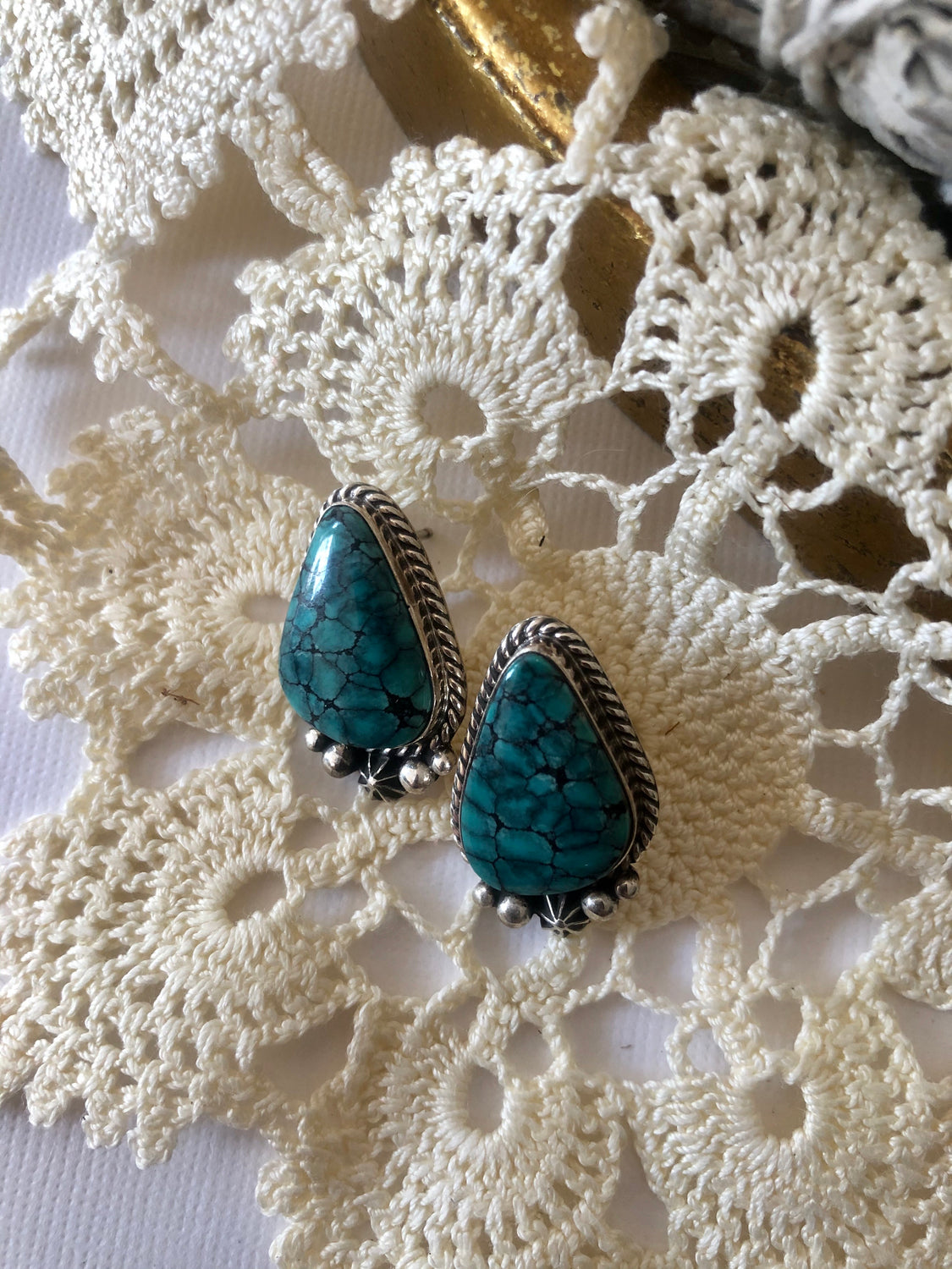 Triangle Turquoise Studs