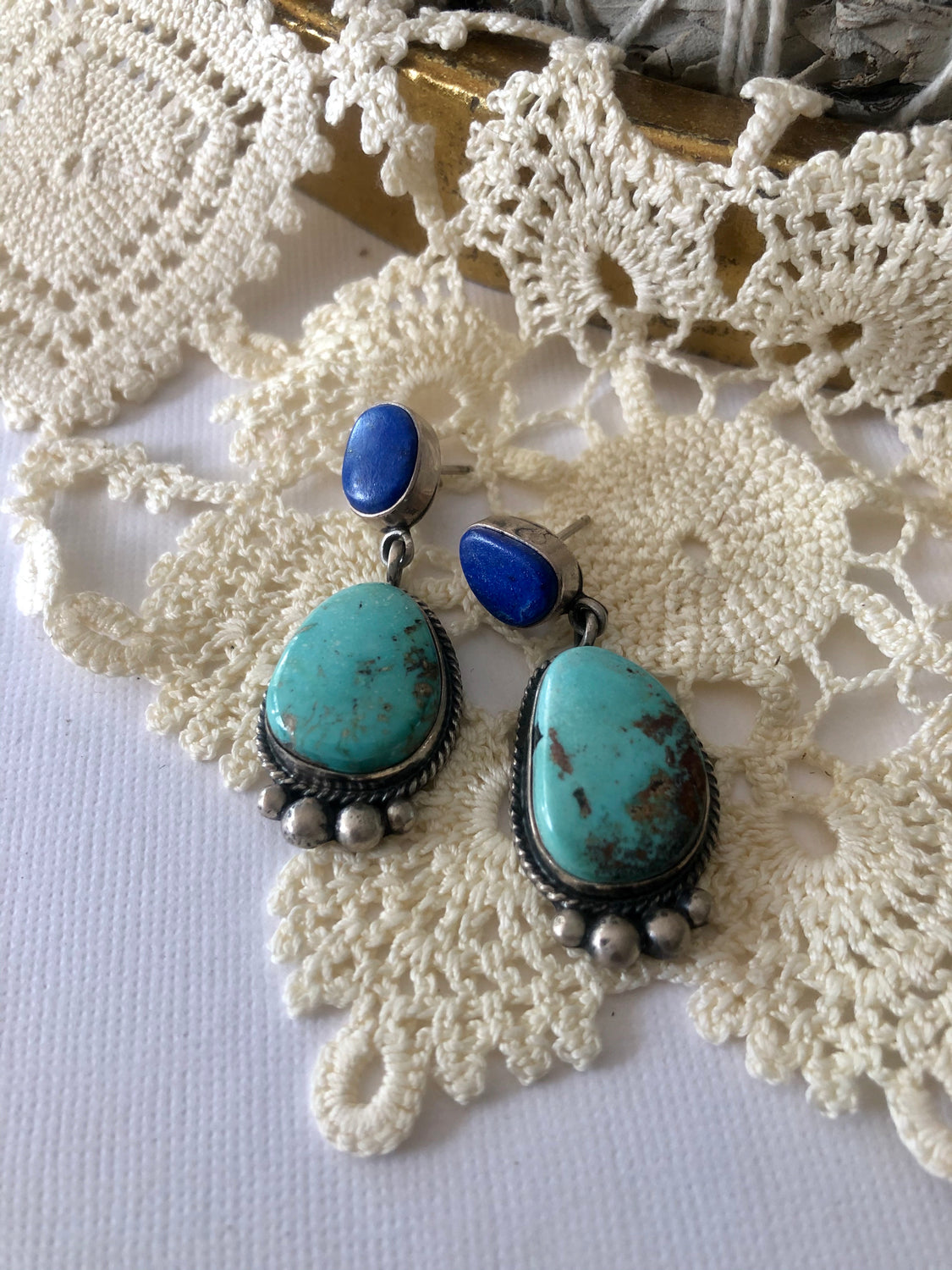 Lapis & Turquoise Earrings
