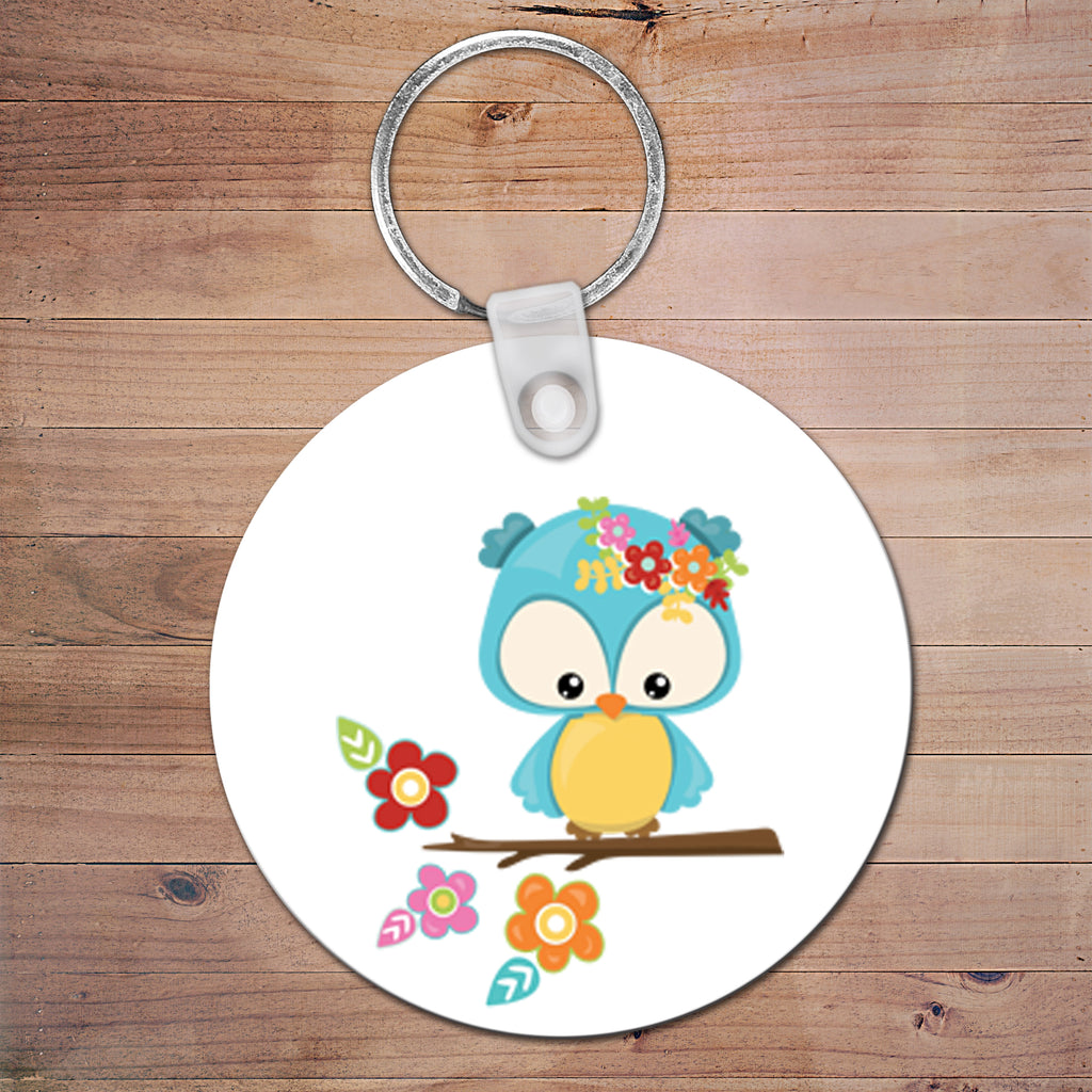 Set of 3 Personalised Bag Tags Plastic Round 6cm - 250+ Designs!
