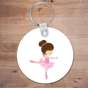 Ballerina Personalised Bag Tag