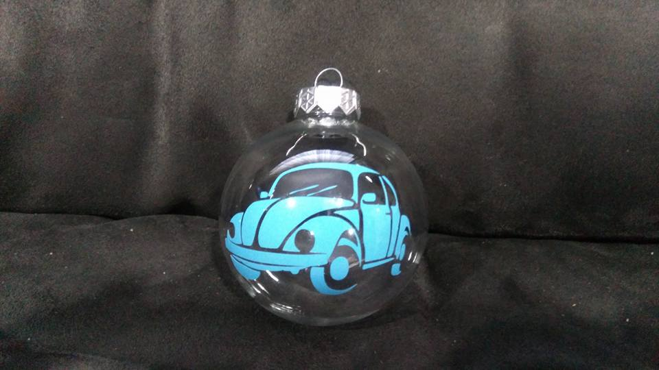 VW Christmas Baubles Beetle