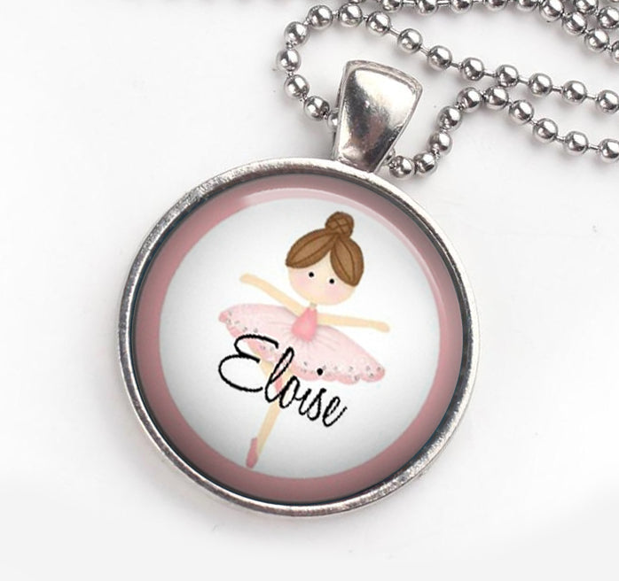 Personalised Pendant Necklace Ballerina