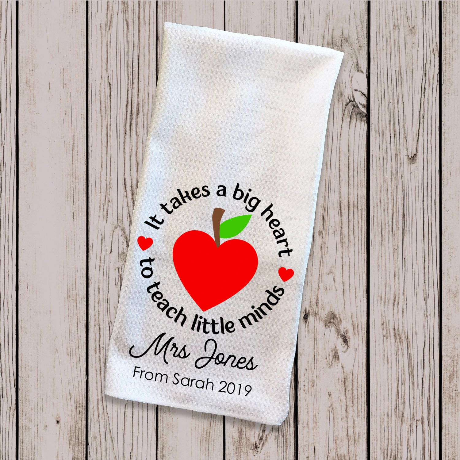 Tea Towel - Teacher Apple Little Minds