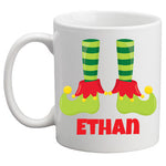 Christmas Mug Boy Elf Feet