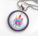 Personalised Pendant Necklace Castle