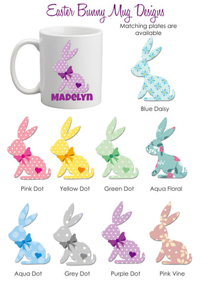 Colourful Easter Bunny Mug - Polymer