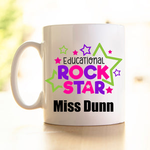 Teacher's Mug -Educational Rockstar pink/purple