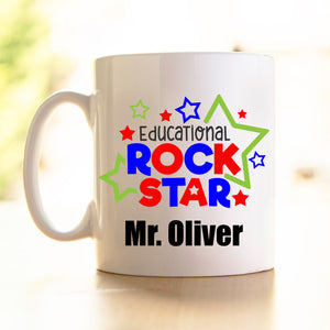 Teacher's Mug -Educational Rockstar red/blue