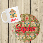 Gingerbread mug and plate set