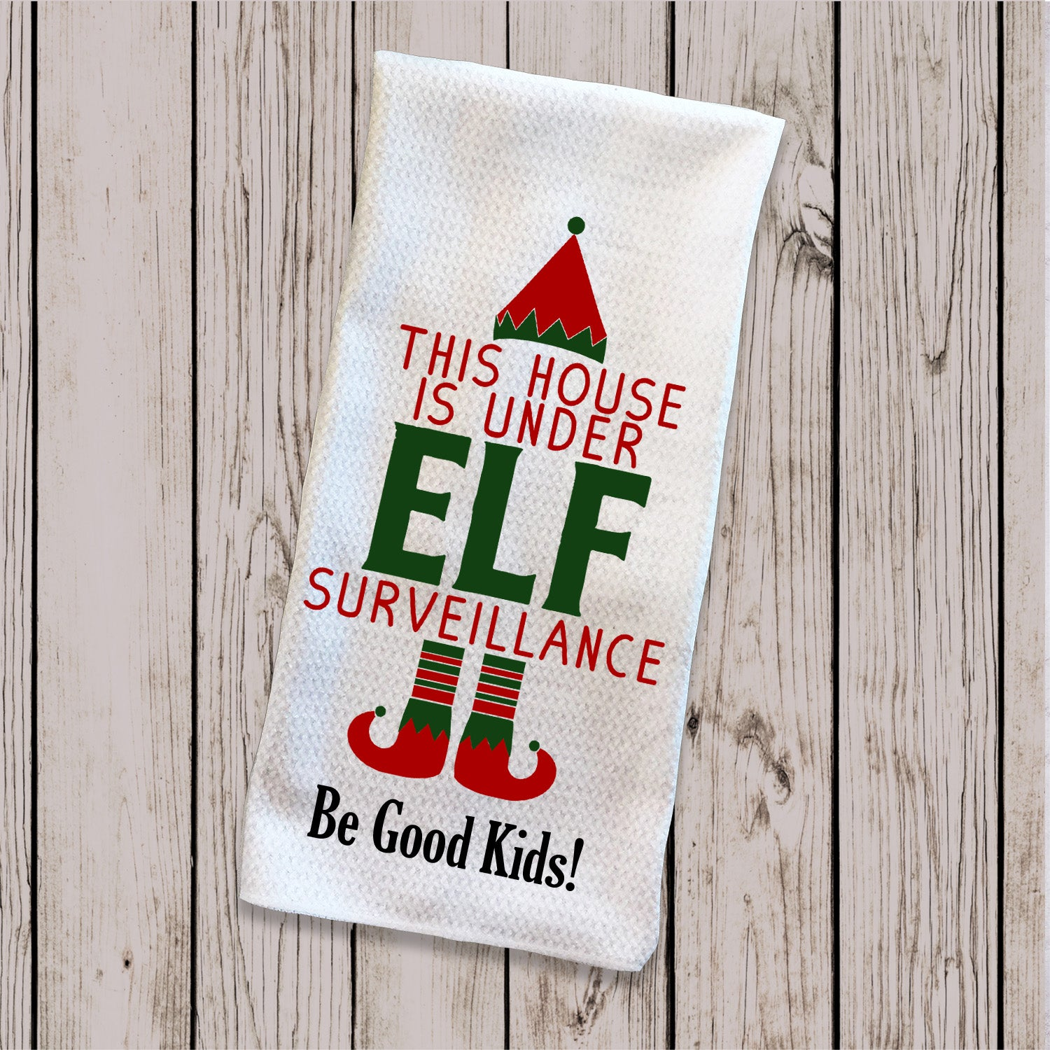 Tea Towel - Elf Surveillance