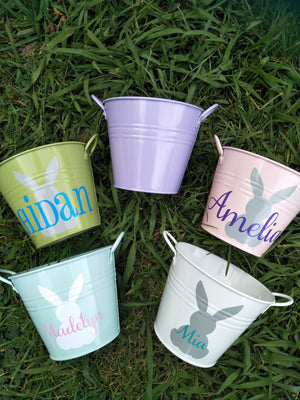 Easter Bunny Buckets Single handle