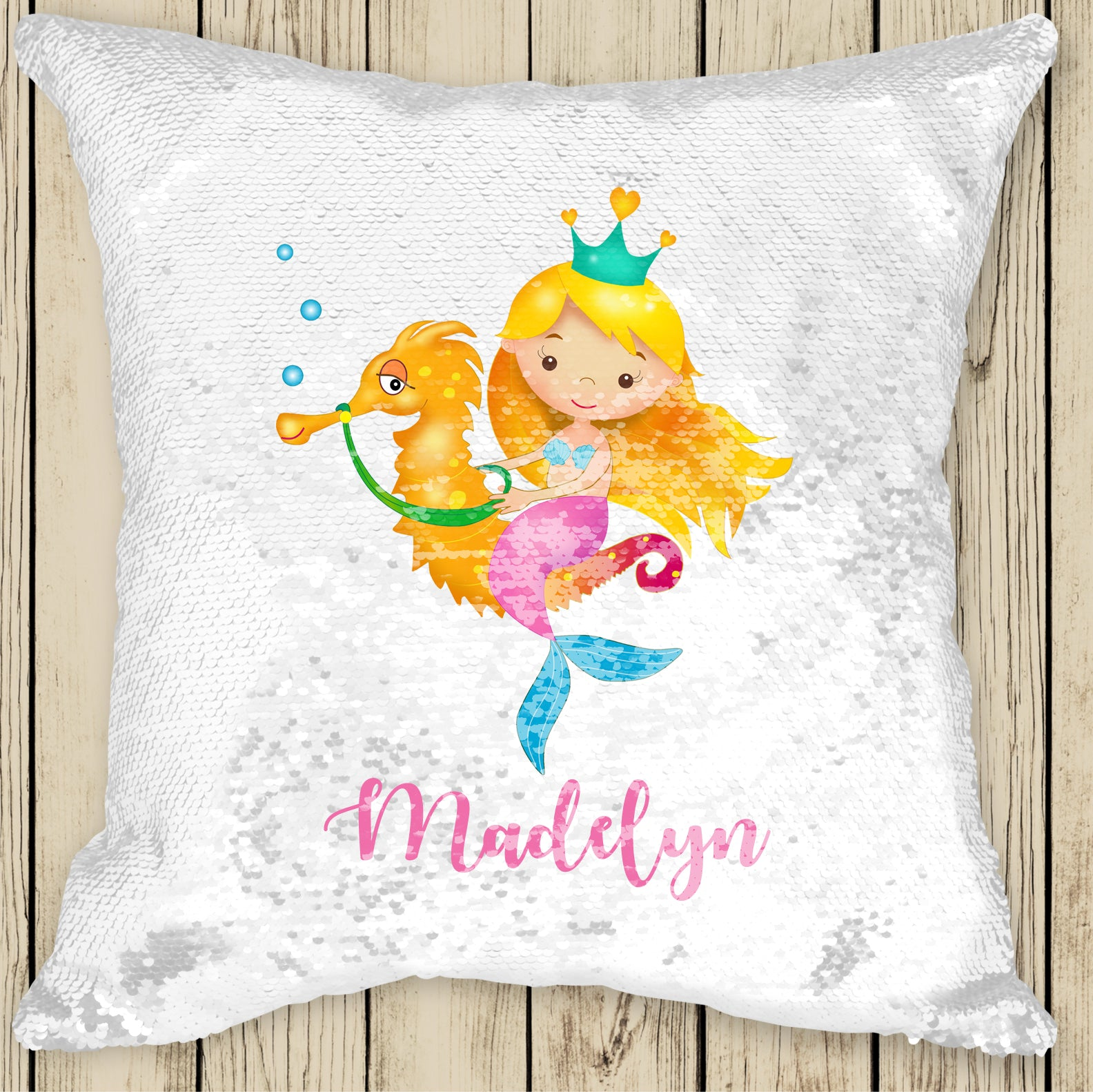 Sequin Cushion Cover - Mermaid