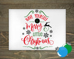 Glass Cutting Board - Merry Little Christmas