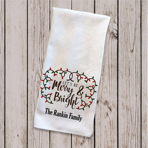 Tea Towel - Merry & Bright