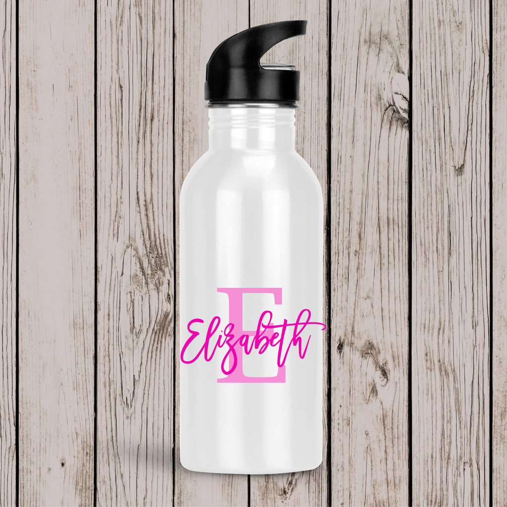 Monogram Drink Bottle Pink