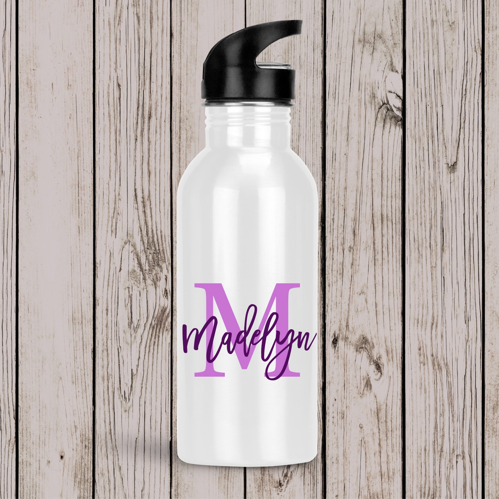 Monogram Drink Bottle Blue