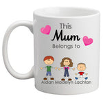 Belongs to - personalised Mothers Day Mug