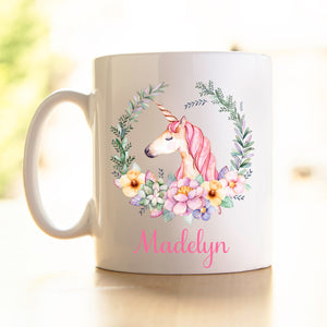 Unicorn Wreath Mug