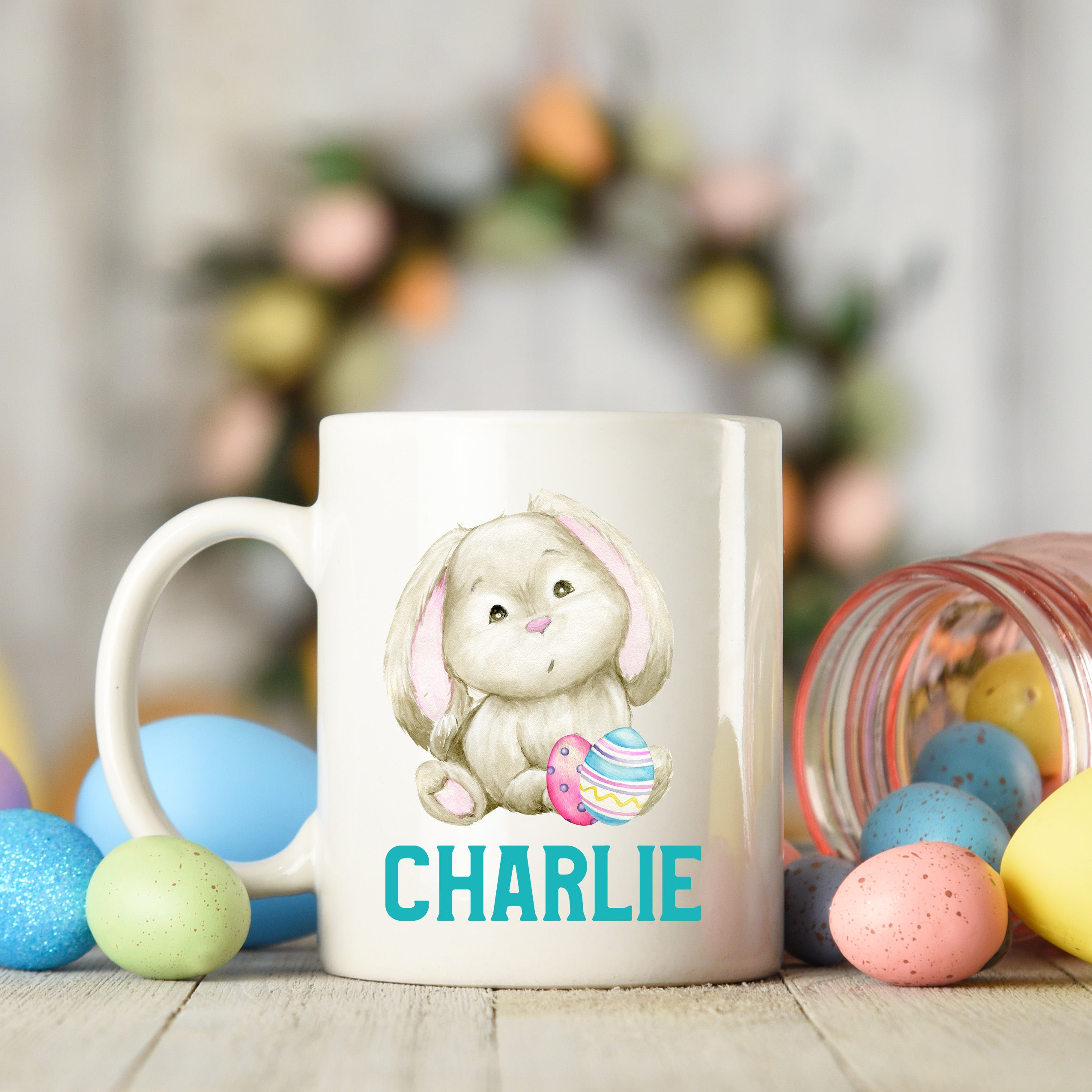 Easter Bunny with Eggs Mug