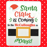 Christmas Countdown - Santa Belt