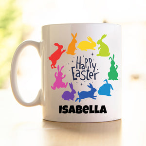 Easter Mug - Rainbow of Bunnies
