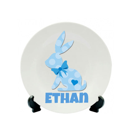 Colourful Easter Bunny Plate - Polymer