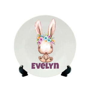 Easter Mug - Girl Bunny Hair Flowers