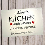 Glass Cutting Board - Grandkids welcome