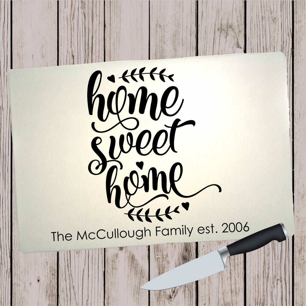 Glass Cutting Board - Home Sweet Home