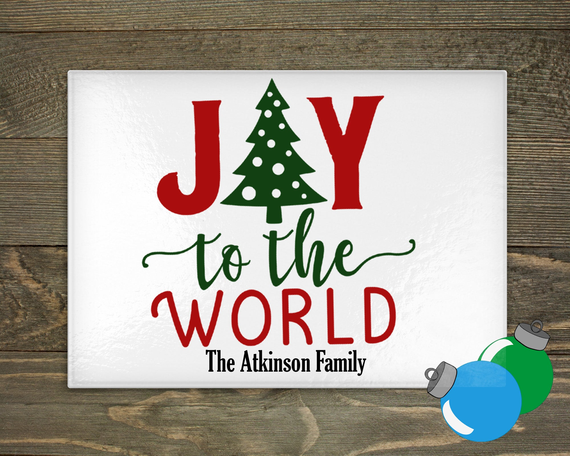 Glass Cutting Board - Joy to the World