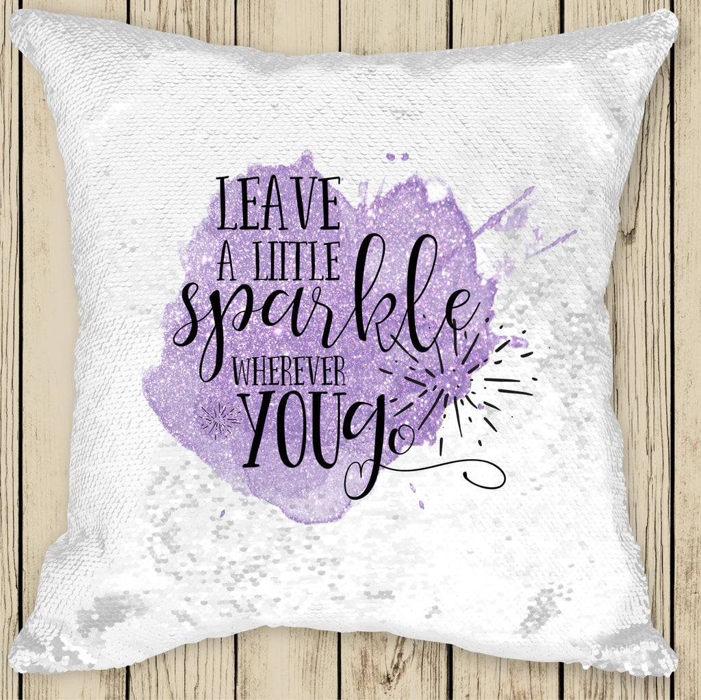 Sequin Cushion Cover - Leave a Little Sparkle