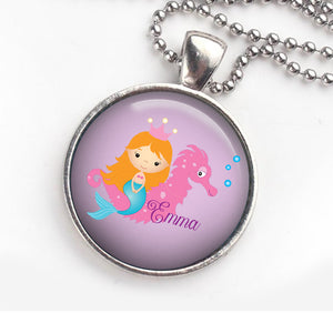 Personalised Pendant Necklace Mermaid