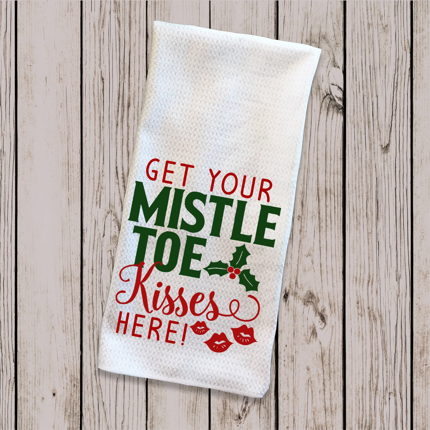 Tea Towel - Mistletoe Kisses