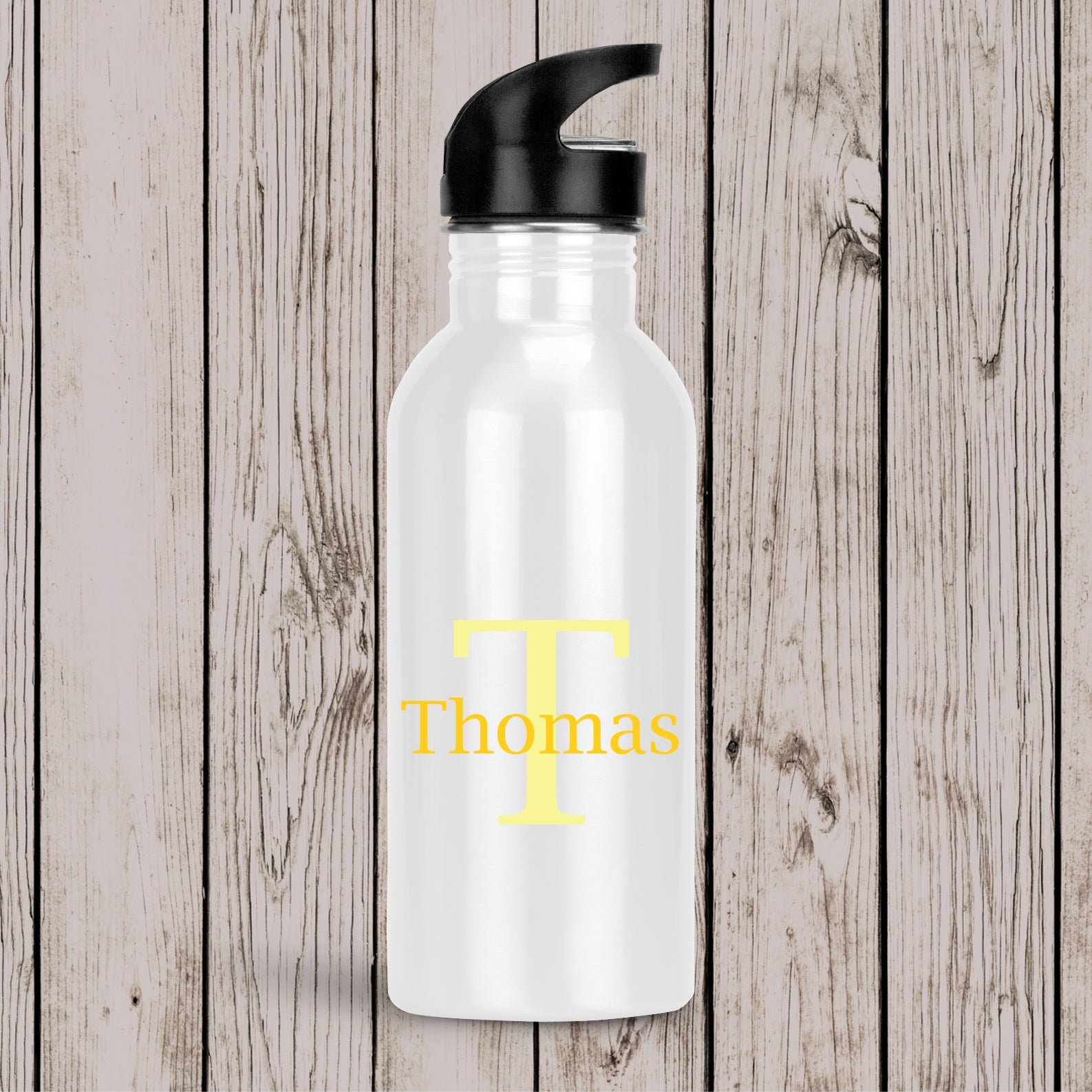 Monogram Drink Bottle Black