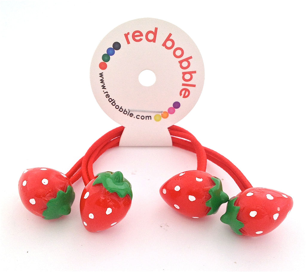 Hair Bobbles - Strawberries