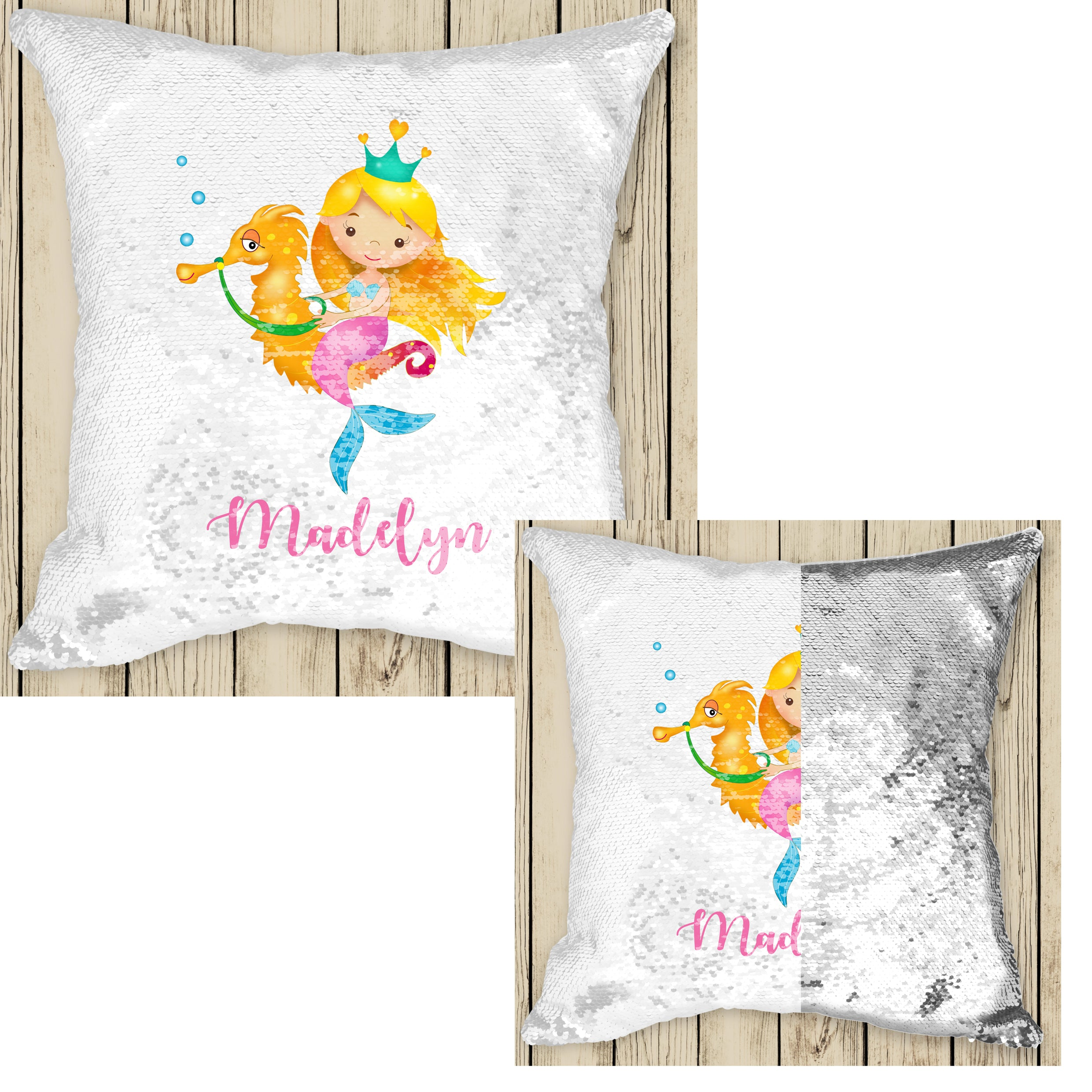 Sequin Cushion Cover - Mama Bear