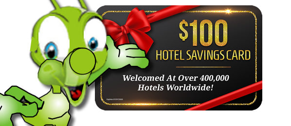 $100 Hotel Savings Card With Your Purchase