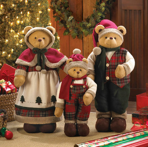Holiday Bear Family Décor