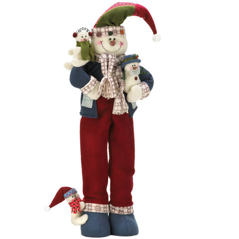 Merry Christmas Plush Snowman Decor