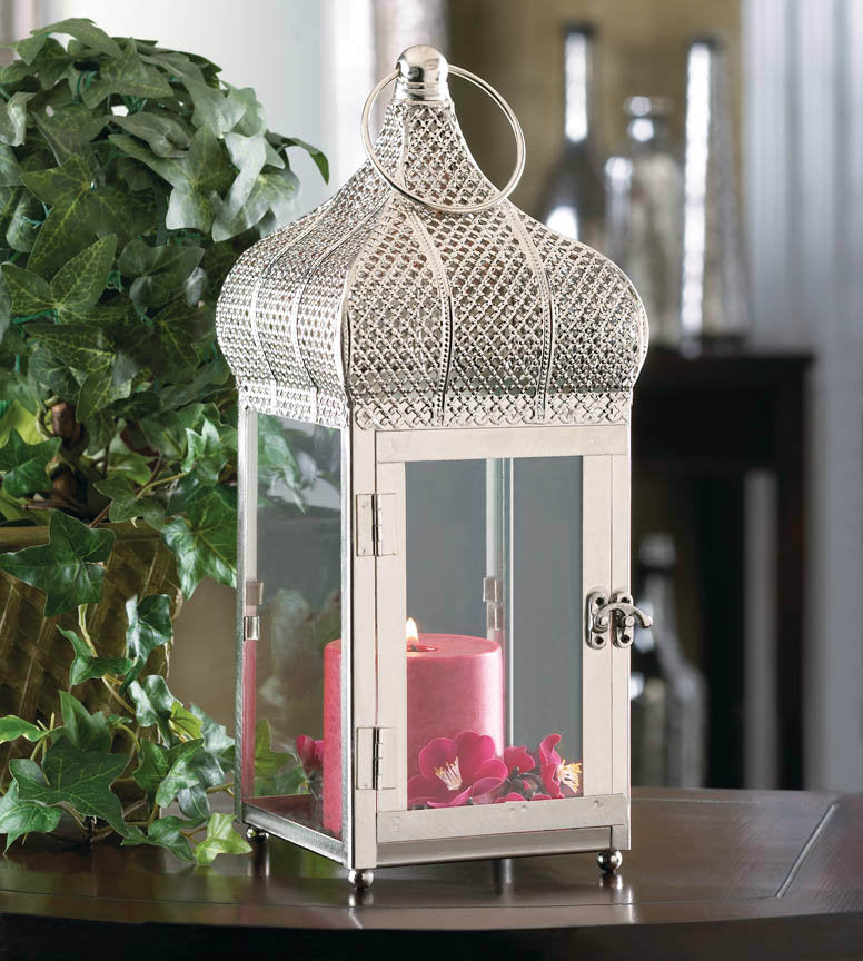 Moroccan Dome Candle Lantern - 13 inches