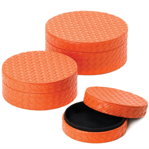Orange Keepsake Box Trio