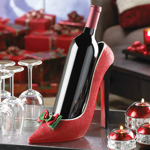 Holiday Heel Wine Bottle Holder