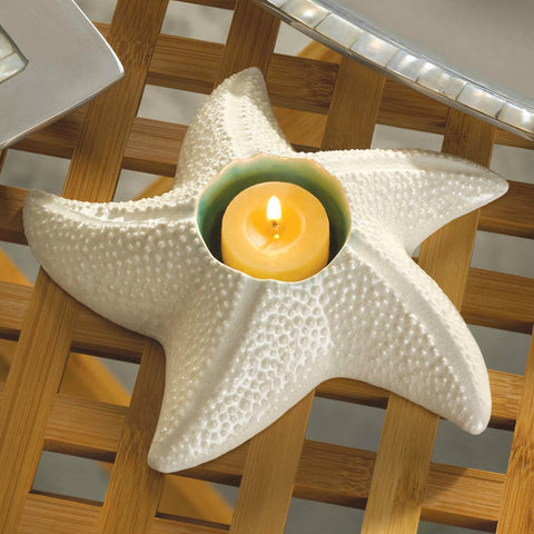 Stoneware Star Fish Candle Holder