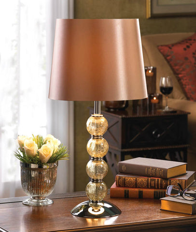 Crackled Glass Globes Table Lamp