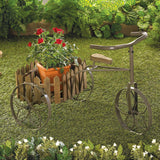 Tricycle Planter with Picket Fence Basket
