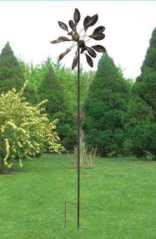 7-Foot Leaf-Design Garden Spinner