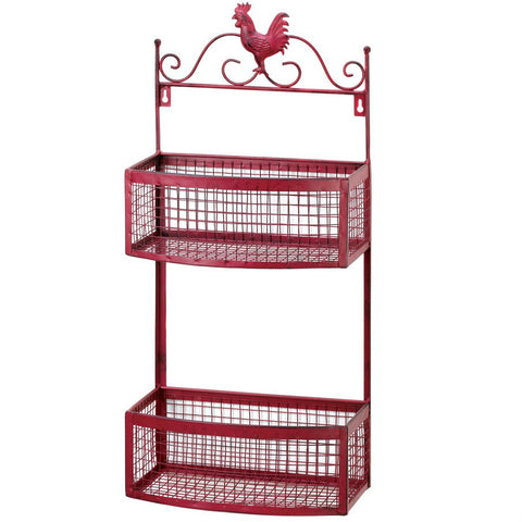 Red Rooster Double Wall Rack