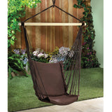 Espresso Cotton Padded Swing Chair