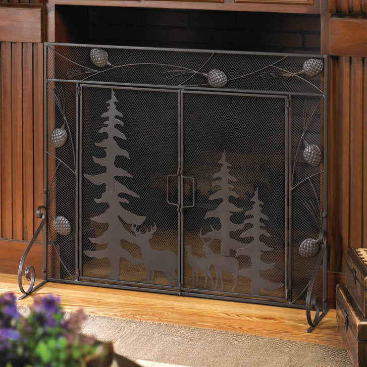Woodland Forest Fireplace Screen